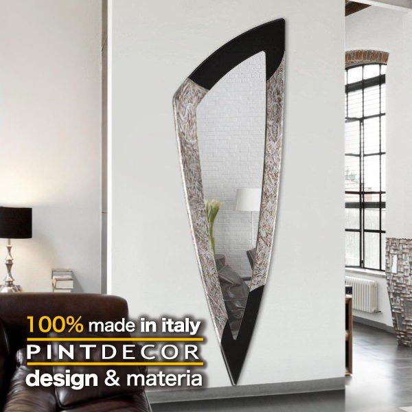 ウォールミラー|PINTDECOR SPIKE P3036 ピントデコール イタリア モダンアート リビング ダイナミック デコラティブ ミックステクスチャー 立体 ハンドメイド オブジェ ホテルライク 壁掛けミラー 鏡 エッチング 新居