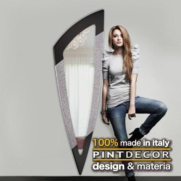 ウォールミラー|PINTDECOR DIAMANTE P3156 ピントデコール イタリア モダンアート リビング ダイナミック デコラティブ ミックステクスチャー 立体 ハンドメイド オブジェ ホテルライク 壁掛けミラー 鏡 近代アート 新居