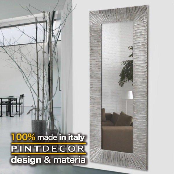 ウォールミラー|PINTDECOR ONDE P3236 ピントデコール イタリア モダンアート リビング ダイナミック デコラティブ ミックステクスチャー 立体 ハンドメイド オブジェ ホテルライク 壁掛けミラー 鏡 近代アート 新居 モダン