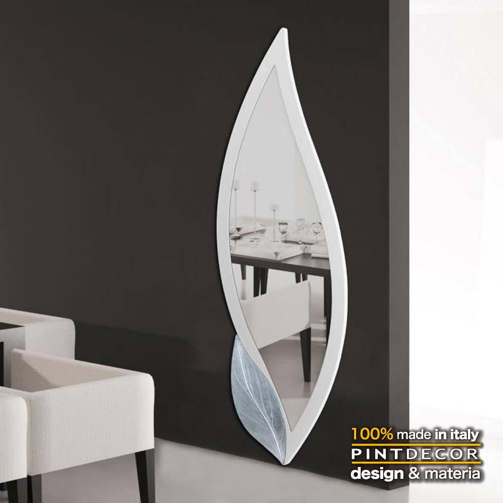 ウォールミラー|PINTDECOR PETALO BIANCO P4252 ピントデコール イタリア モダンアート リビング ダイナミック デコラティブ ミックステクスチャー 立体 ハンドメイド オブジェ ホテルライク 壁掛けミラー 鏡 新居 ホワイト シンプル スタイリッシュ