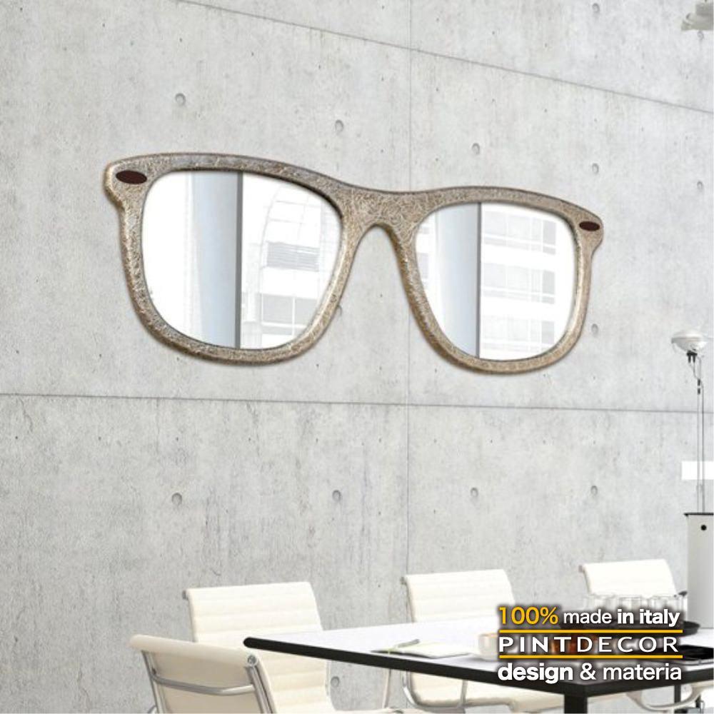 ウォールミラー|PINTDECOR RAY P4401 ピントデコール イタリア モダンアート リビング ダイナミック デコラティブ ミックステクスチャー 立体 ハンドメイド オブジェ ホテルライク 壁掛けミラー 鏡 新居 サングラス ポップカルチャー