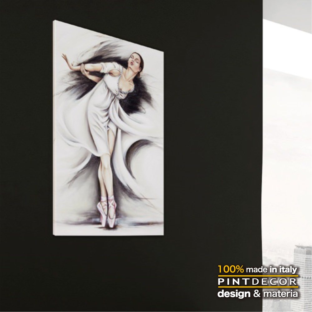 アートパネル|PINTDECOR BOLSHOI P4554 ピントデコール イタリア モダンアート リビング ダイナミック デコラティブ ミックステクスチャー 立体 ハンドメイド オブジェ ホテルライク 絵画 新居 近代アート ボリジョイ バレエ 白鳥の湖