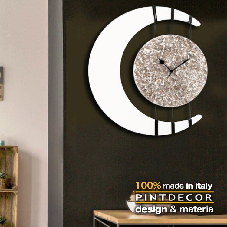 ウォールクロック|PINTDECOR ECLISSI P4808 ピントデコール イタリア モダンアート リビング ダイナミック デコラティブ ミックステクスチャー 立体 ハンドメイド オブジェ ホテルライク 新居