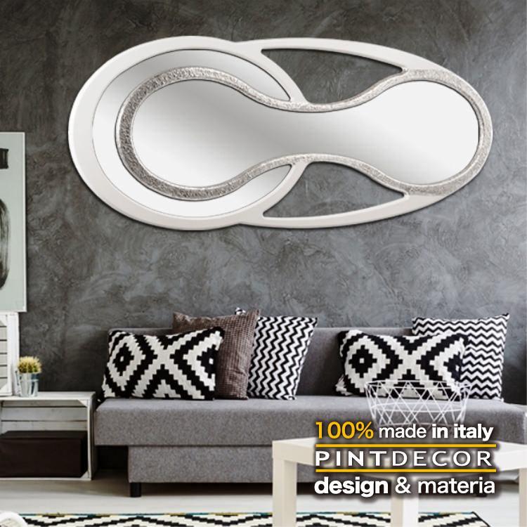 ルームミラー|PINTDECOR ENTERPRISE P4858 ピントデコール イタリア モダンアート リビング ダイナミック デコラティブ ミックステクスチャー 立体 ハンドメイド オブジェ ホテルライク 新居