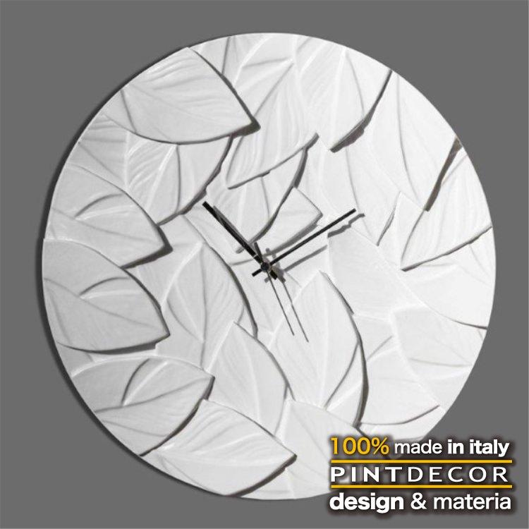 ウォールクロック|PINTDECOR SCRAPPY AVORIO P5032 ピントデコール イタリア 時計 リビング ダイナミック デコラティブ ミックステクスチャー 立体 ハンドメイド オブジェ ホテルライク 新居