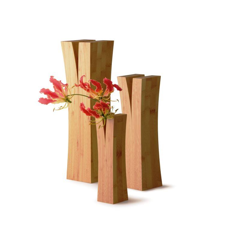 竹集成材で作ったベースL(一輪挿し)|TEORI LIN L P-LIL テオリ 倉敷の美しい竹家具 国内産 手作り モダン デザイン ナチュラル バンブー