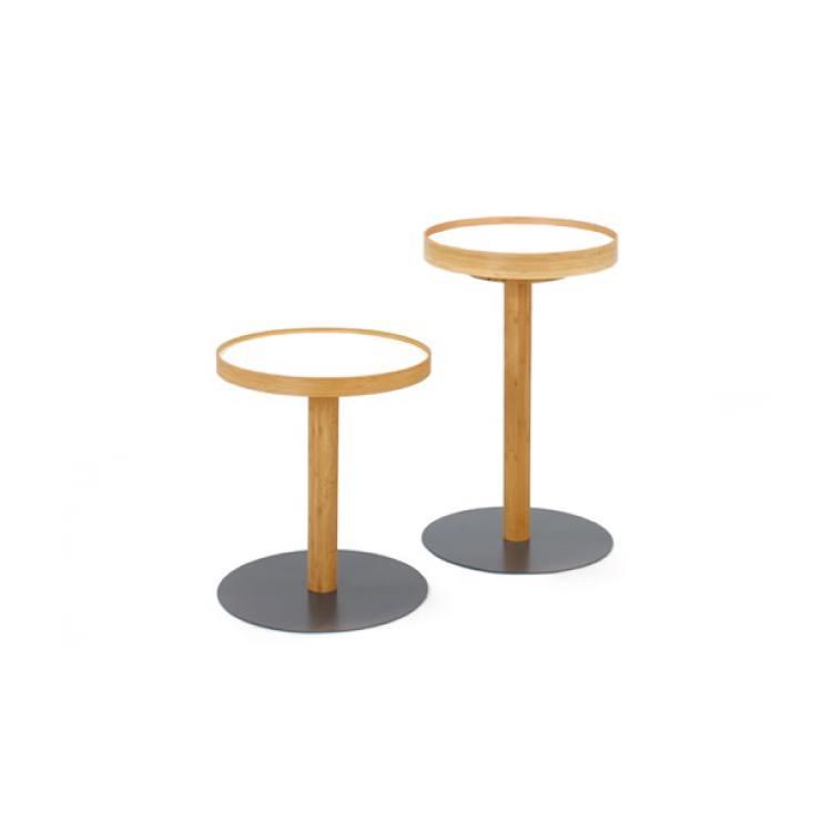 竹集成材のワンサイドテーブル(ハイ)乳白|TEORI ONE SIDE TABLE TE-OTH テオリ 倉敷の美しい竹家具 国内産 手作り モダン デザイン ナチュラル バンブー
