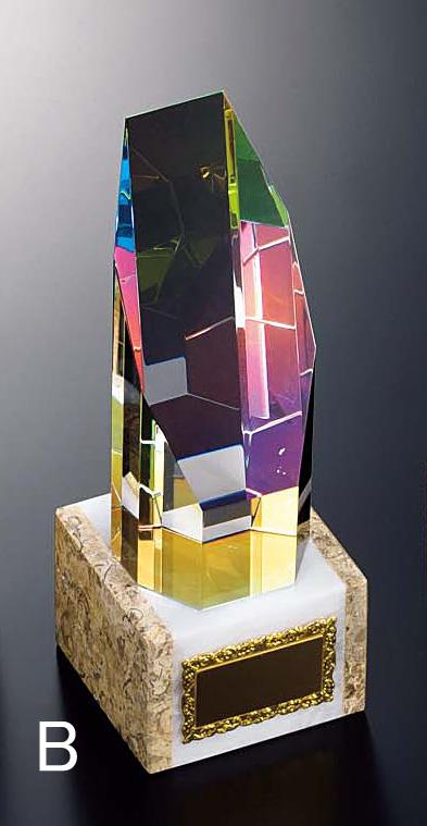 トロフィー【送料無料&文字無料】 お得!ガラス トロフィー B318-Bサイズ●高さ190mm