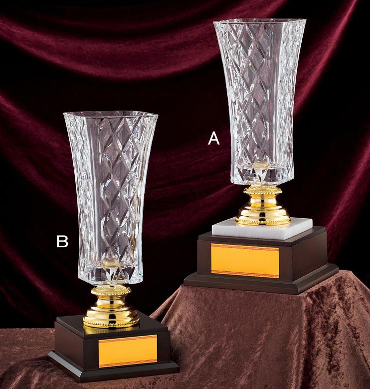優勝カップ【送料無料&レーザー文字無料】ガラスの優勝カップ GC205-Bサイズ●高さ375mm