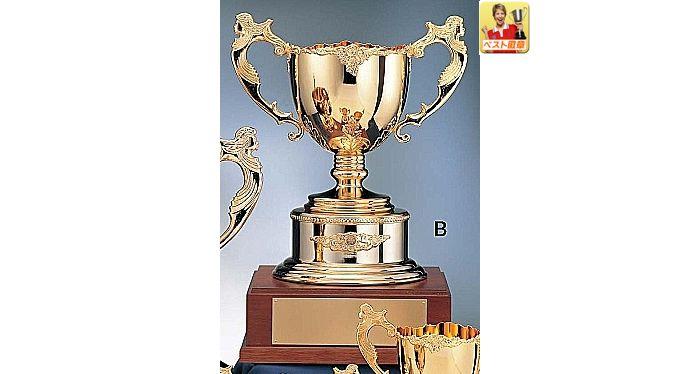 優勝カップ【送料無料】【レーザー文字彫刻無料】ゴールド優勝カップ F-GC1087-B●高さ450mm