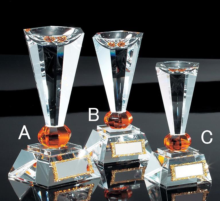 優勝カップ・クリスタル【文字彫刻無料】高貴で気品高いガラスカップ M-VC1058-Cサイズ●高さ150mm