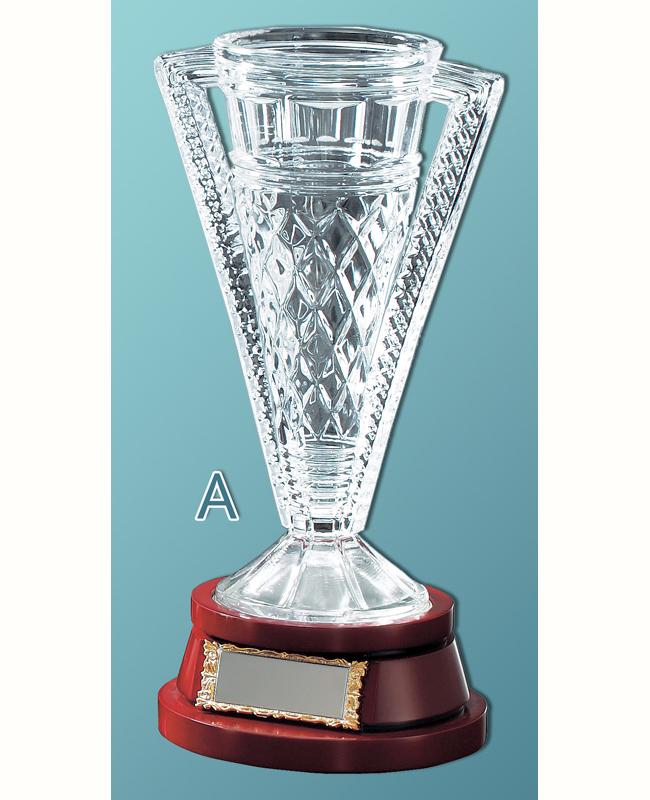 優勝カップ【送料無料&文字無料】華麗なガラスカップ●260mm M-VC1053-Aサイズ