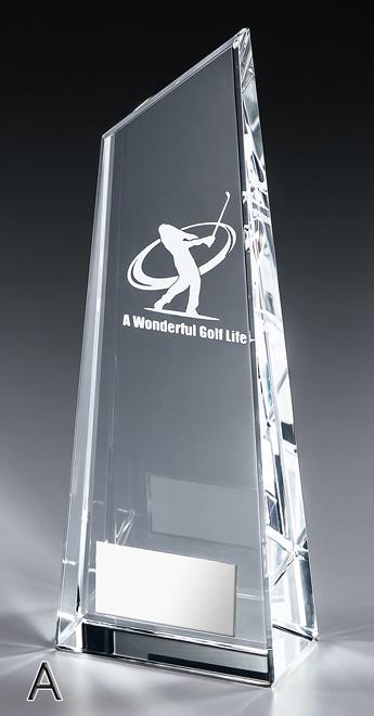 トロフィー 送料無料&レーザー文字無料 クリスタルトロフィー M-VT3400-A 高さ240mm/ガラス