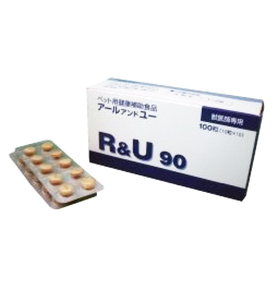 共立製薬犬猫用R&U90 100錠 (動物用栄養補助食品)【犬猫用アールアンドユー90】
