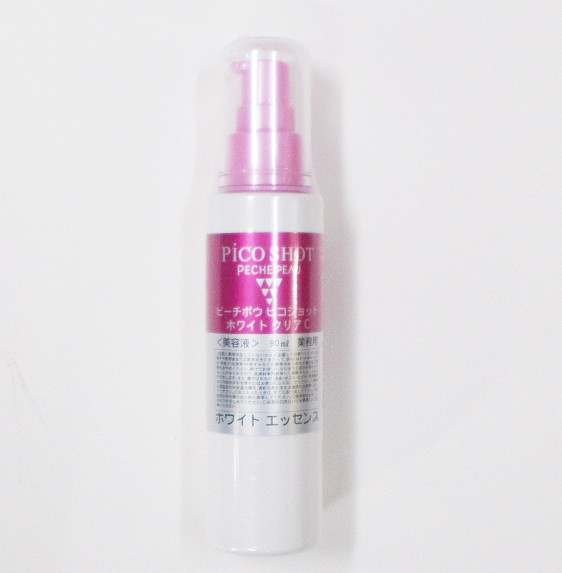 PECHE PEAUピコショットホワイトクリアC 90ml【無香料・無着色、日本製、ピーチポウ、WHITE CLEAR C、美容液】