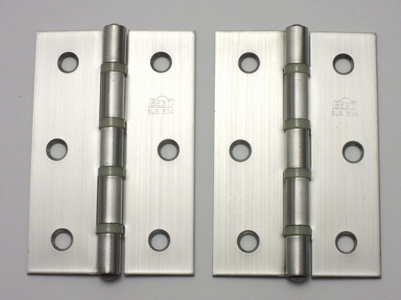 最もオーソドックスで一般的に使用される蝶番 ベスト 113ステンレス 特厚蝶番 ナイロンリング入 0150-086 100%品質保証! 在庫あり 2枚入り 89ミリ