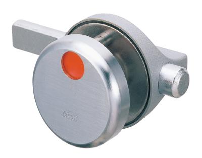 ラバトリーブース引戸 開き戸用の金物 ベスト 610B-C 打掛錠 #610BD-C13-40-2 指はさみ防止 外開き 送料0円 1着でも送料無料 CUD パネル厚13×40ミリ