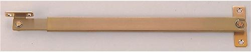 室内ドアの戸当り兼煽り止め金具 本物 定価 ベスト 1500N レバーストッパー #1500N-3 古代ブロンズ 面付型内付外開タイプ 312ミリ