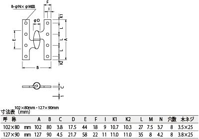 デザイン性に優れたフランス蝶番 セール特別価格 ベスト 162 フランス蝶番 左勝手 #162-4-3-2 いつでも送料無料 古代ブロンズ 102×80ミリ
