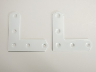 鉄製の平横折 ベスト 再販ご予約限定送料無料 カラー平横折 白 50ミリ 流行 8-31