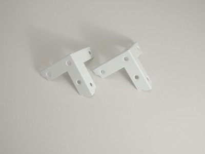 日本全国 送料無料 鉄製の補強金物 ベスト カラー三方面 50ミリ 白 プレゼント 8-55