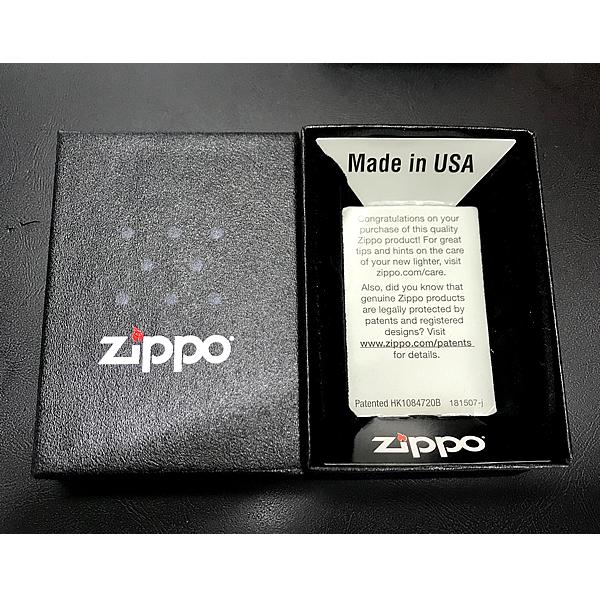 Zippo Lighter Brass Safari Shell Paste Red Silver SFR-ZB Zebra Design Japan