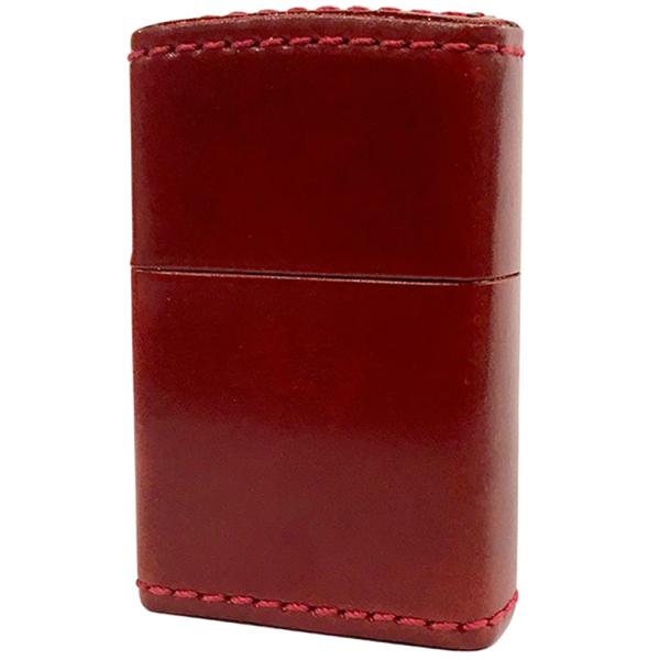 ZIPPO 革巻き オイルドコードバン レッド Cordvan red ジッポー