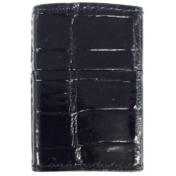 ZIPPO クロコダイル Crocidile Black ブラック 本クロコダイル革巻き ジッポー