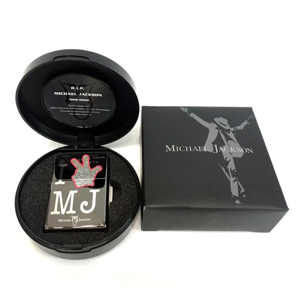 ZIPPO 2009個 限定品 マイケル・ジャクソン追悼記念 (B)I LOVE MJ レコード盤スペシャルBOX シルアルナンバー入り Michael Jackson 両面加工 ジッポー