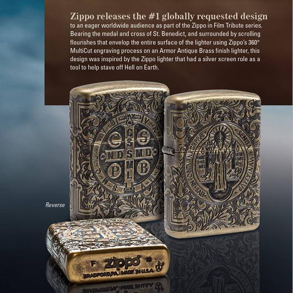 ZIPPO 映画シリーズ コンスタンティン・イメージ ベネディクト 29719 4面連続彫刻 Armor ジッポー