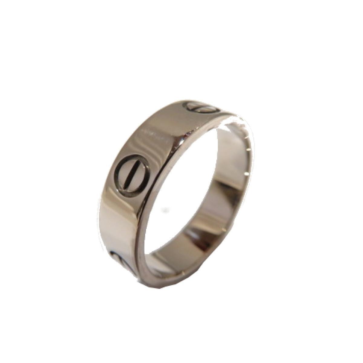 【ポイント5倍!】Cartier(カルティエ)/ラブリング リング 指輪/リング/シルバー系/K18WG(750)ホワイトゴールド/【ランクA】/#57/16.5号【中古】