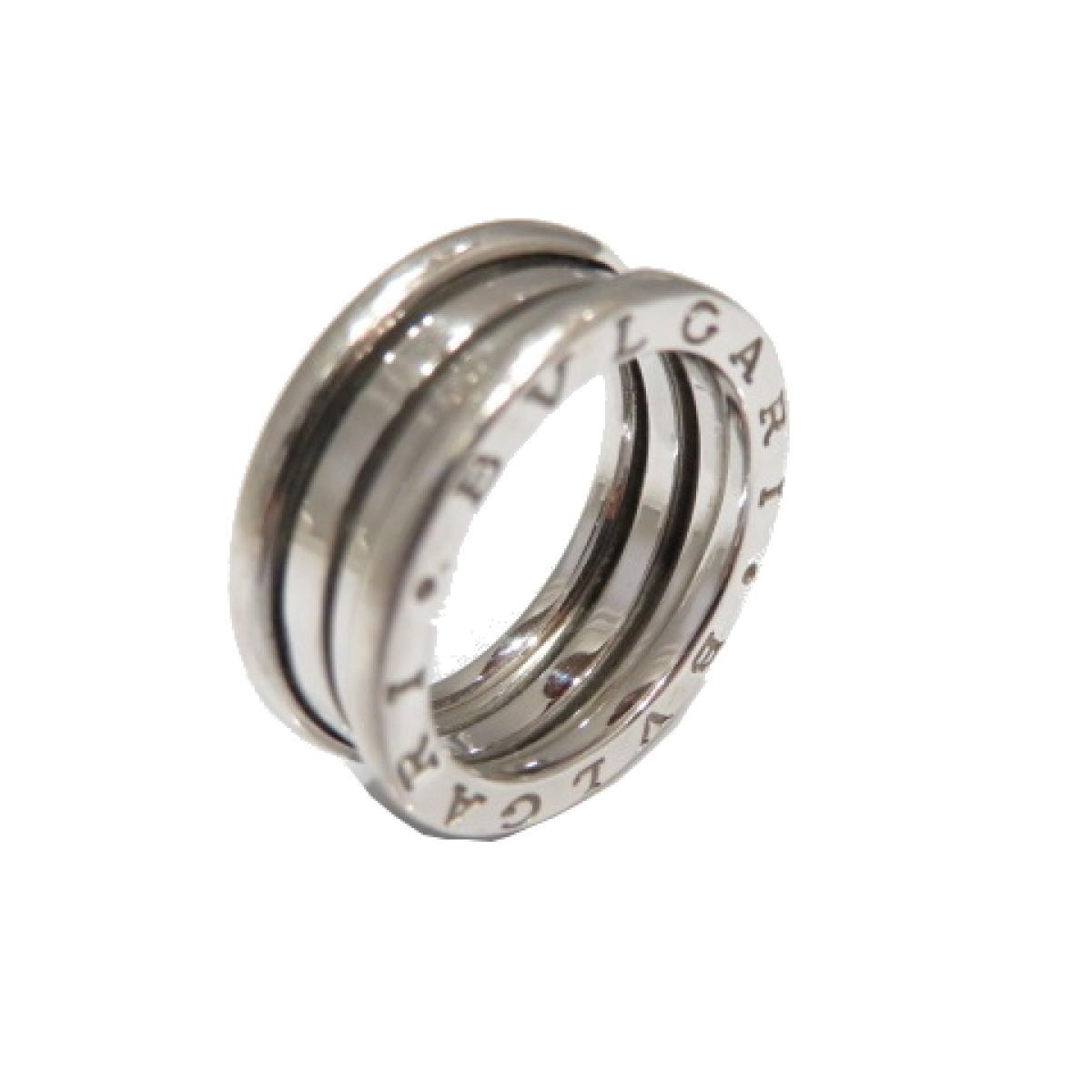 BVLGARI(ブルガリ)/B-zero1 リング Sサイズ 指輪/リング/シルバー系/K18WG(750)ホワイトゴールド/【ランクA】/#55/14号【中古】
