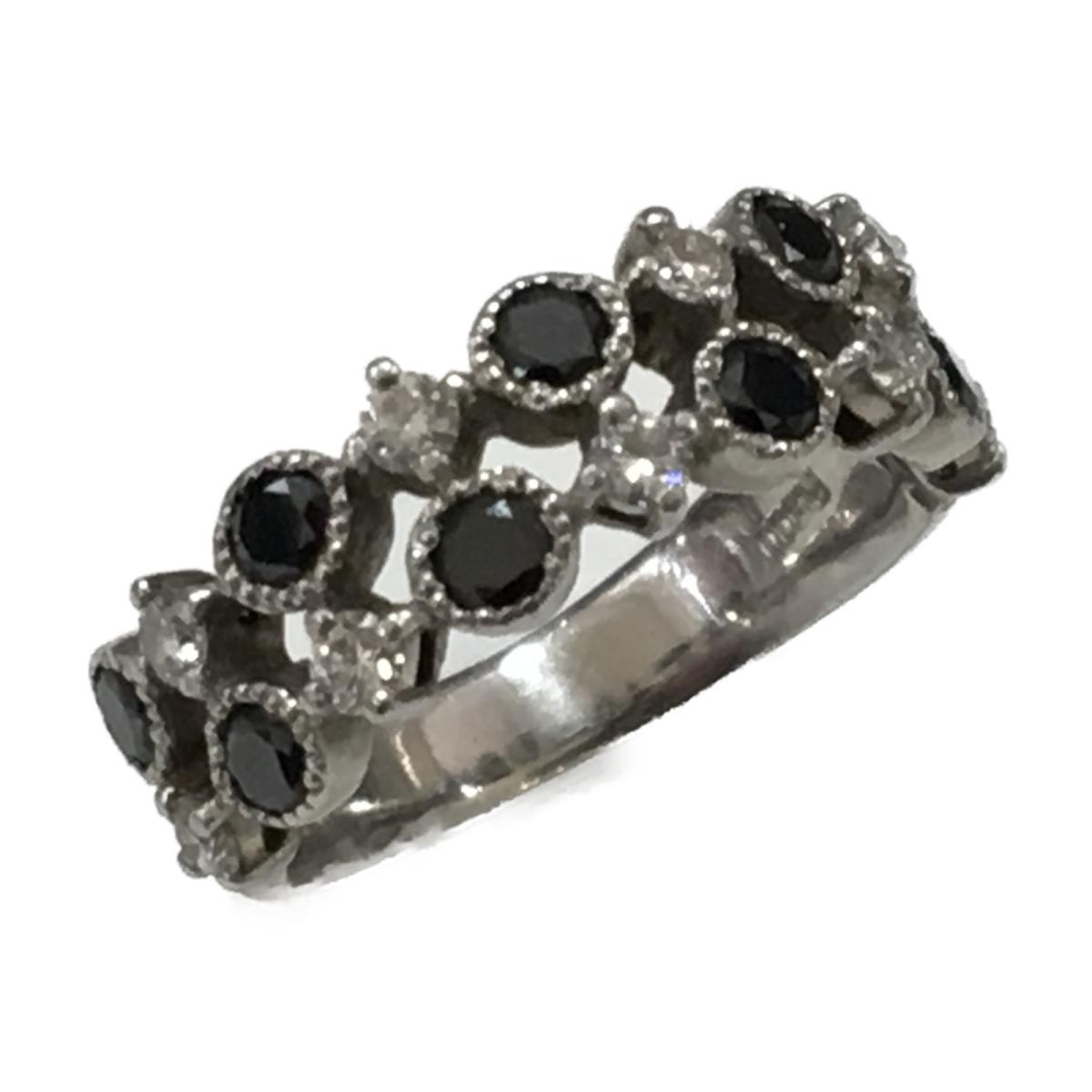 JEWELRY(ジュエリー)/ジュエリー ブラックダイヤモンド ダイヤモンド リング 指輪/可愛い/リング//PT900(プラチナ)×ダイヤモンド(0.8ct)/【ランクA】/8.5号【中古】