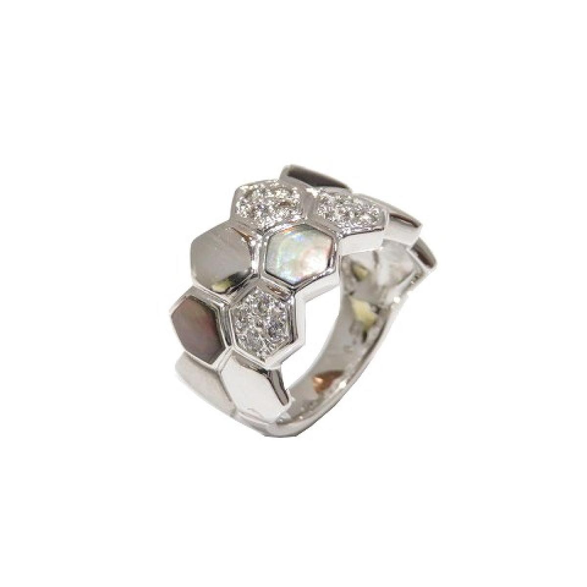 JEWELRY(ジュエリー)/ダイヤモンド リング 指輪/リング//K18WG(750)ホワイトゴールド×ダイヤモンド(0.20ct)×シェル/【ランクA】/12号【中古】