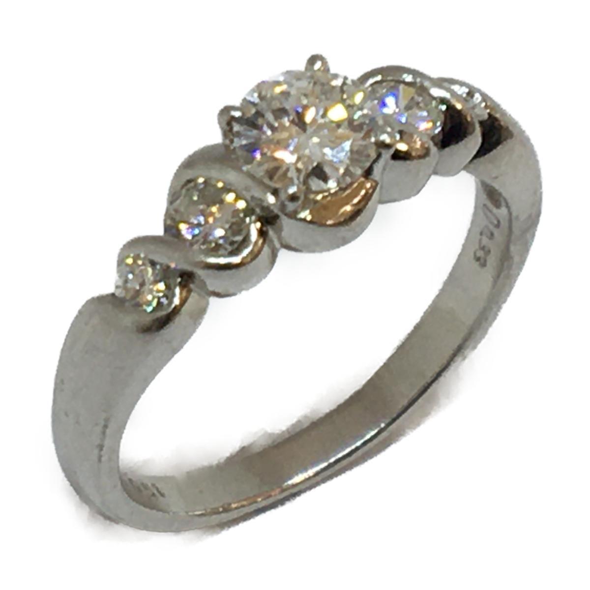 JEWELRY(ジュエリー)/ジュエリー ダイヤモンド 指輪 リング/リング//PT900(プラチナ)×ダイヤモンド(0.51ct/0.33ct)/【ランクA】/14.5号【中古】