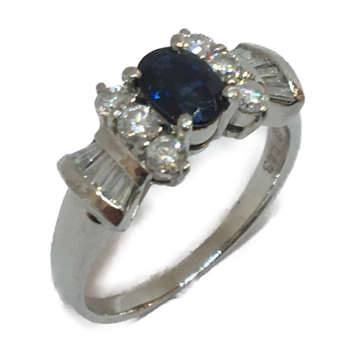 JEWELRY(ジュエリー)/ジュエリー サファイア 指輪 リング/リング//PT900(プラチナ)×サファイア(0.43ct) ×ダイヤモンド(0.67ct)/【ランクA】/13号【中古】