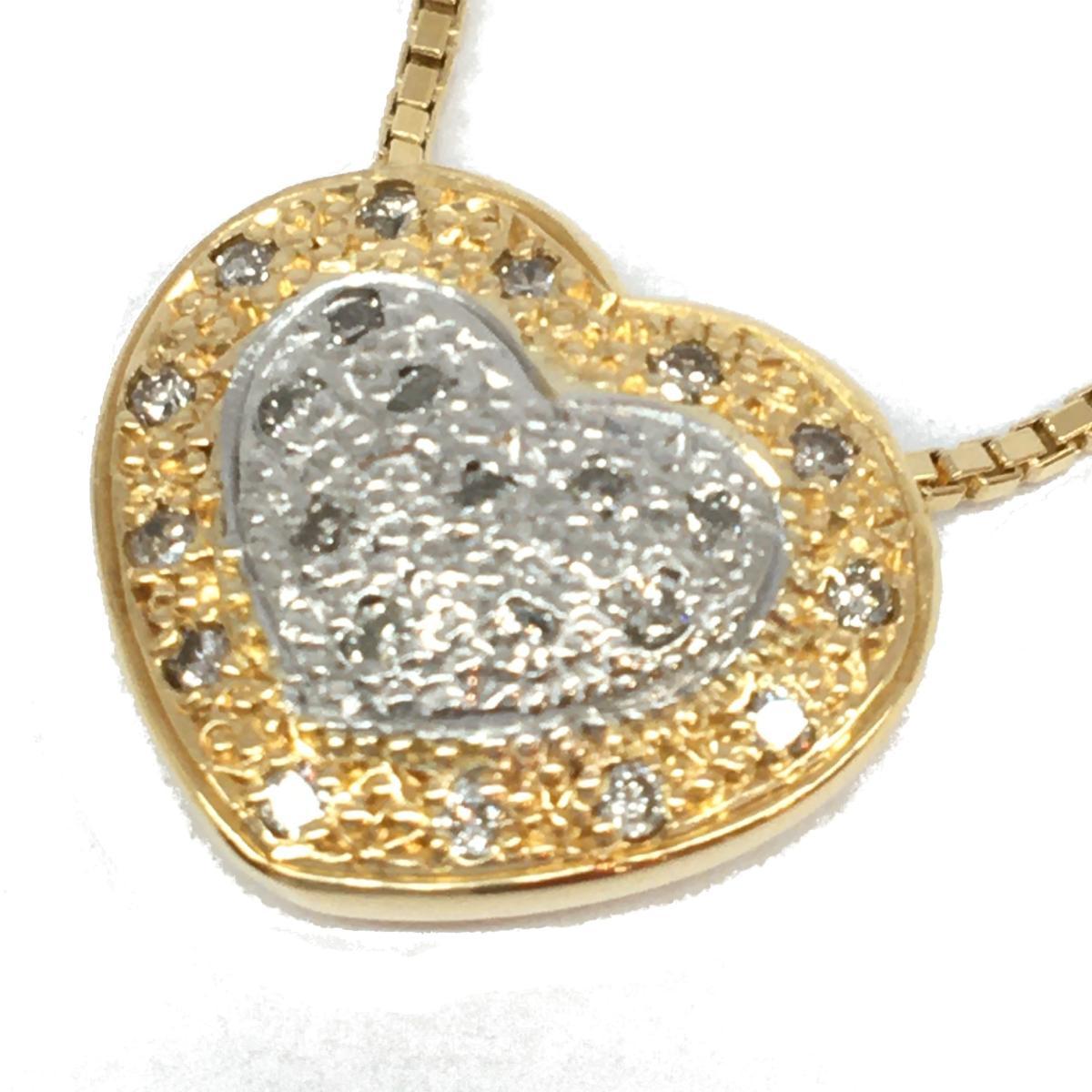 JEWELRY(ジュエリー)/ダイヤモンドネックレス/ネックレス//K18YG(750)イエローゴールド×Pt900×ダイヤモンド 0.24ct/【ランクA】【中古】