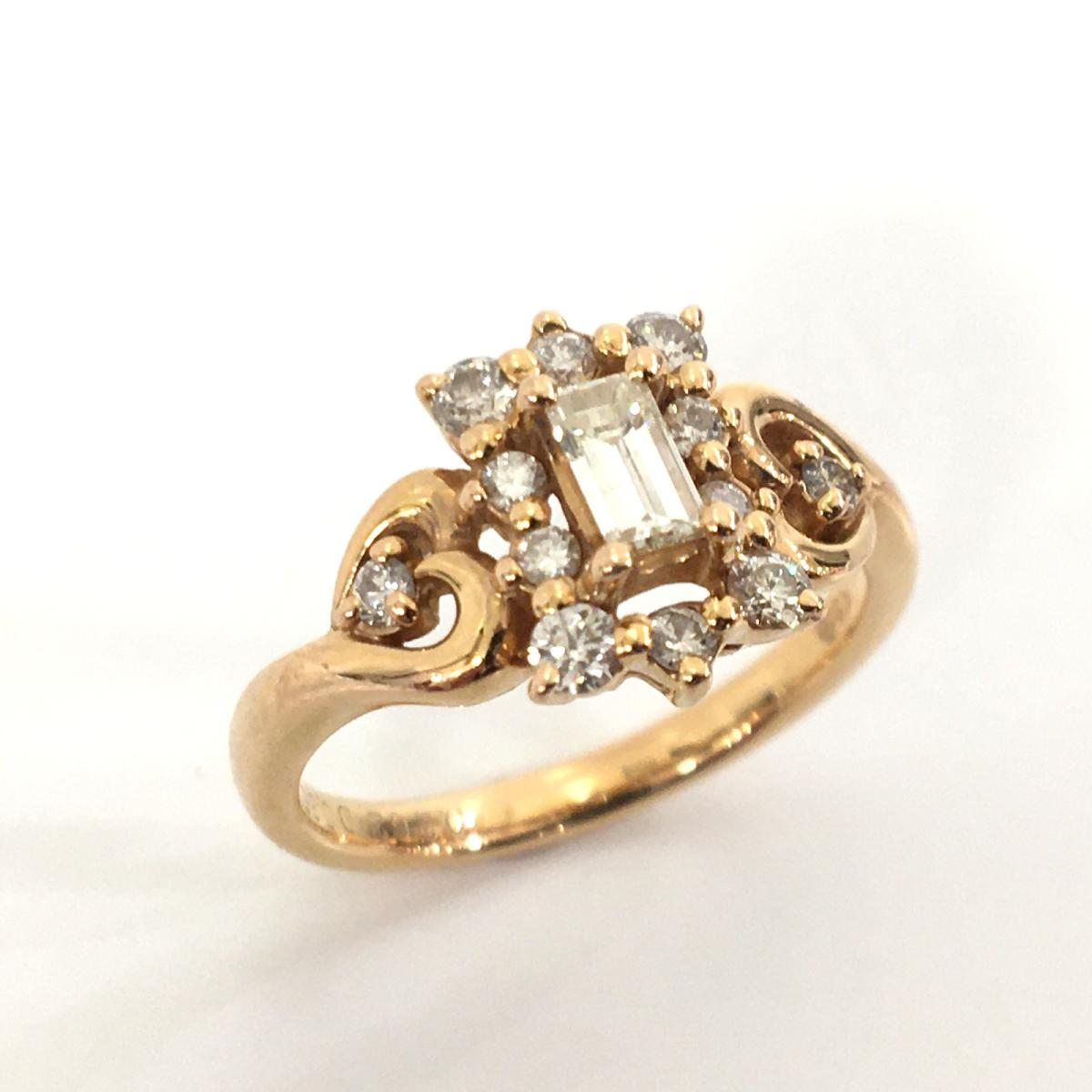 JEWELRY(ジュエリー)/ジュエリー ダイヤモンド 指輪 リング レディース/リング/白系/K18PG(750)ピンクゴールド×ダイヤモンド(0.262ct/0.35ct)/【ランクA】/13号【中古】