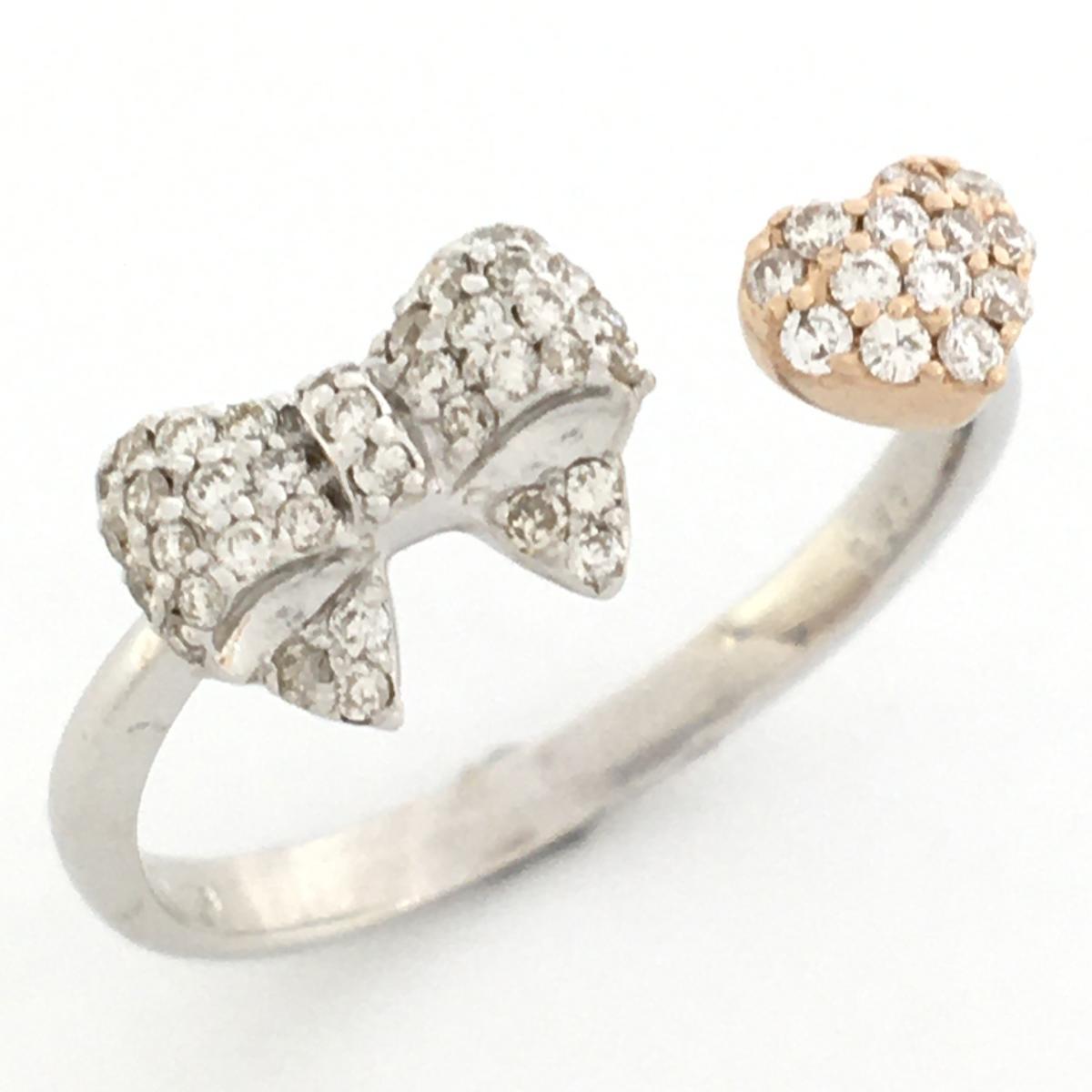 JEWELRY(ジュエリー)/ダイヤモンドリング 指輪 レディース/リング//K18WG(750)ホワイトゴールド×ダイヤモンド 0.30ct×K18PG/【ランクS】/13号【中古】