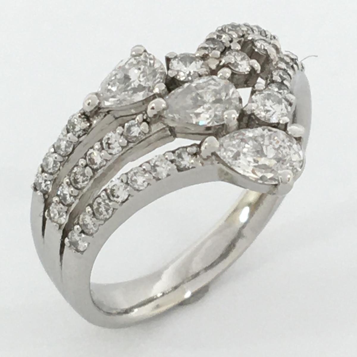 JEWELRY(ジュエリー)/ダイヤモンドリング 指輪/リング//PT900(プラチナ)×ダイヤモンド 0.52/0.74ct/【ランクS】/16号【中古】