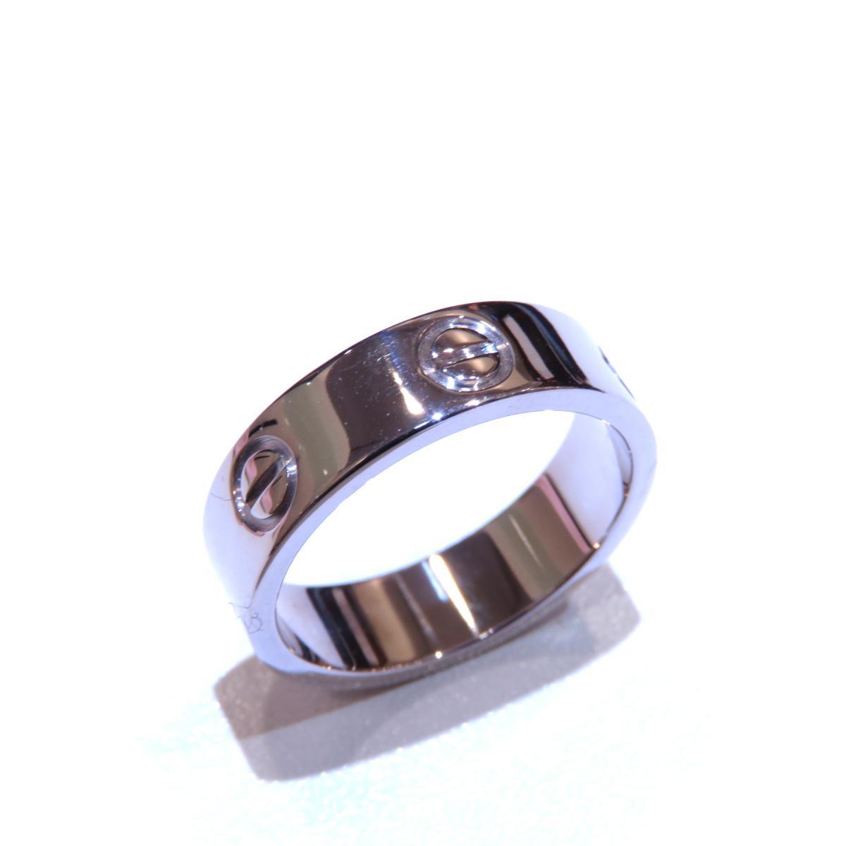 Cartier(カルティエ)/ラブリング 指輪/リング/シルバー系/K18WG(750)ホワイトゴールド/【ランクA】/#54/13.5号【中古】