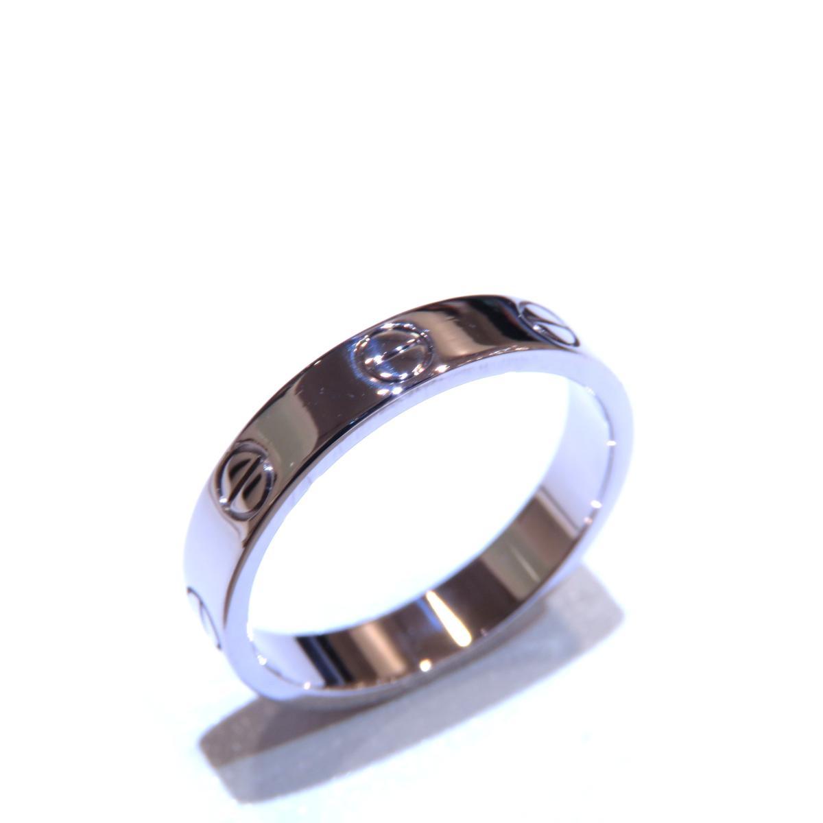 Cartier(カルティエ)/ミニラブリング 指輪/リング//K18WG(750)ホワイトゴールド/【ランクA】/#52/12号【中古】