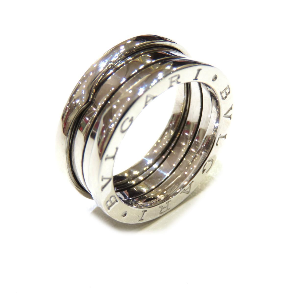 BVLGARI(ブルガリ)/B-zero1 リング S 指輪 セール/リング/シルバー系/K18WG(750)ホワイトゴールド/【ランクA】/#55/14号【中古】