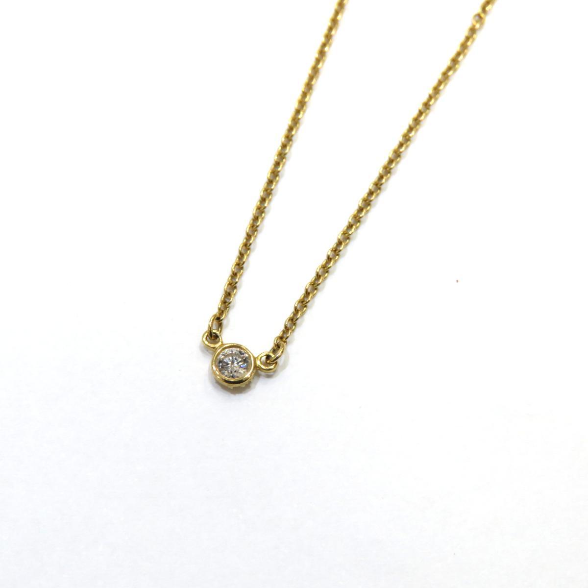 TIFFANY&CO(ティファニー)/バイザヤード ネックレス レディース/ネックレス//K18YG(750)イエローゴールド×ダイヤモンド/【ランクA】【中古】