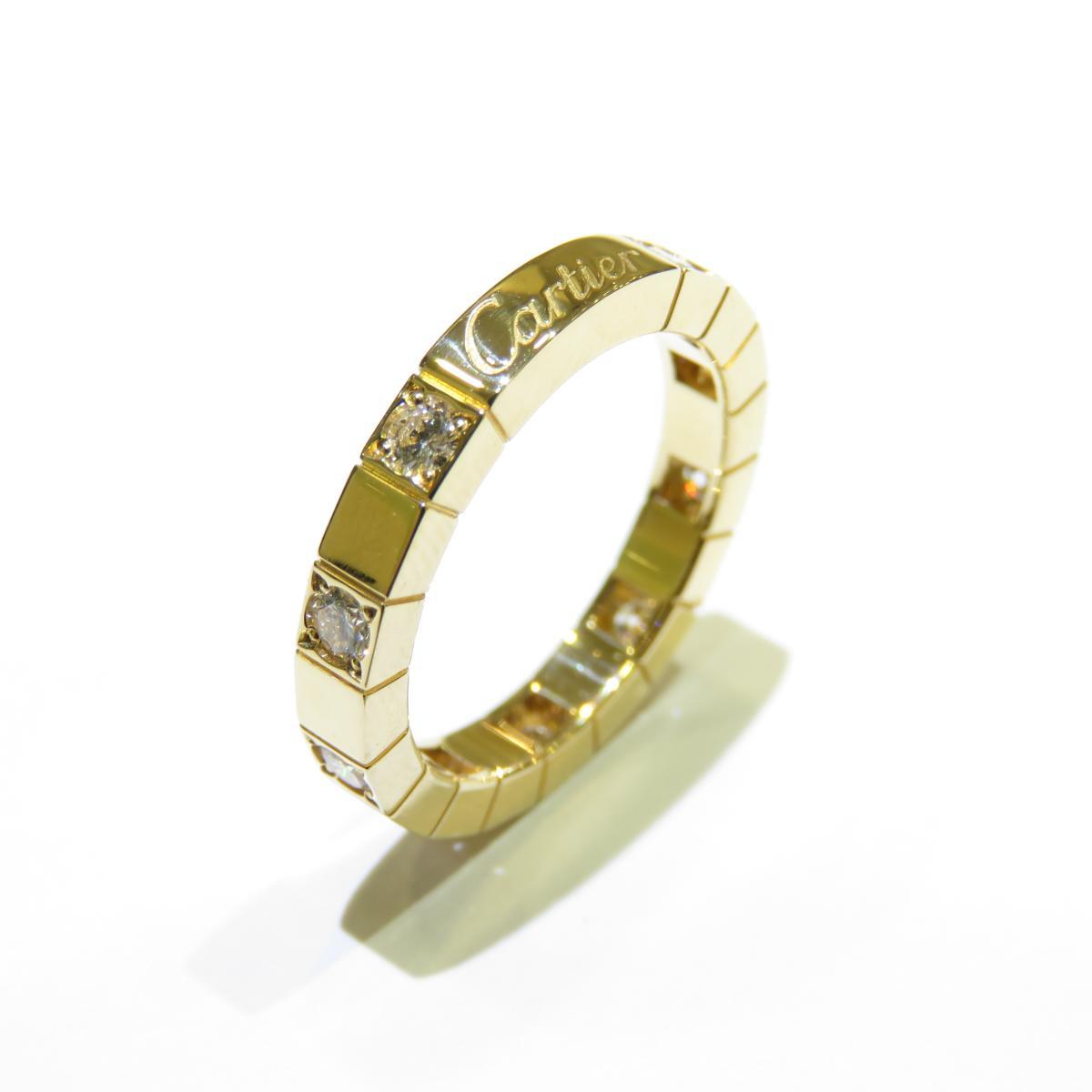 Cartier(カルティエ)/ラニエール ハーフダイヤ リング 指輪/リング//K18YG(750)イエローゴールド×ダイヤモンド/【ランクA】/#49/9号【中古】