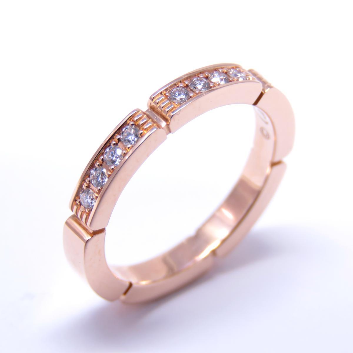 【特価商品】Cartier(カルティエ)/マイヨンパンテール ハーフD リング 指輪/リング//K18PG(750)ピンクゴールド/【ランクA】/#48/8号【中古】