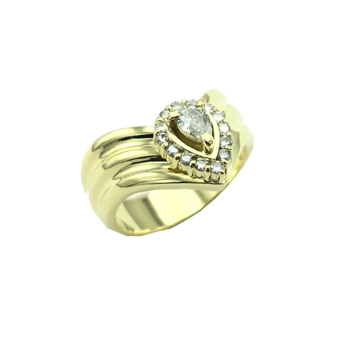 JEWELRY(ジュエリー)/ダイヤモンドリング 指輪 リング/リング/イエローゴールド/K18YG(750)×D 0.15ct×0.18ct/【ランクA】/10号【中古】