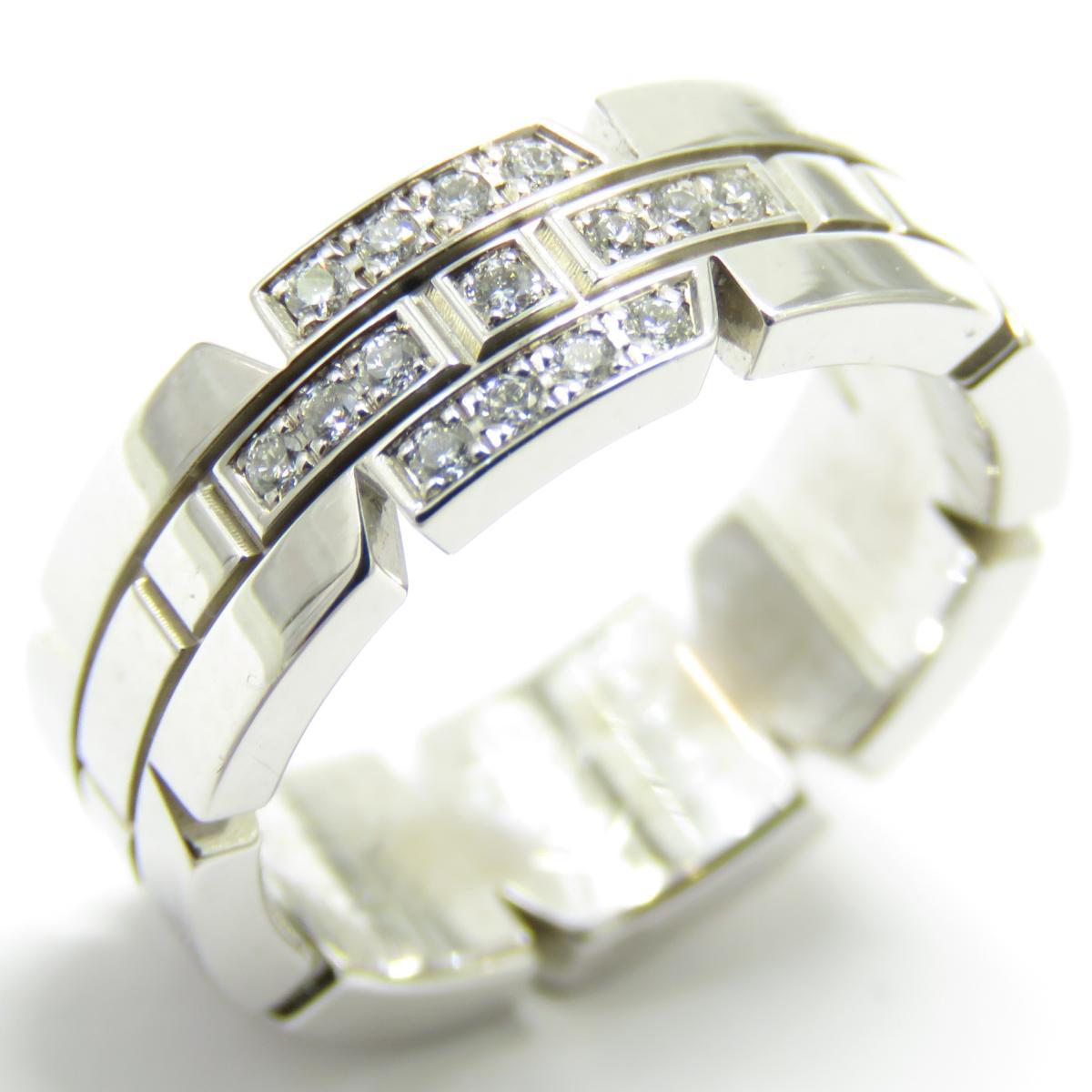 Cartier(カルティエ)/タンクフランセーズハーフダイヤ リング 指輪/リング//K18WG(750)ホワイトゴールド/【ランクA】/#49/9号【中古】