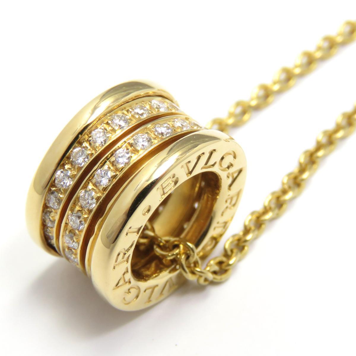 BVLGARI(ブルガリ)/B-zero1ダイヤモンド ネックレス ビーゼロワン/ネックレス/ゴールド系/K18YG(750)イエローゴールド×ダイヤモンド(石目刻印無)/【ランクA】【中古】