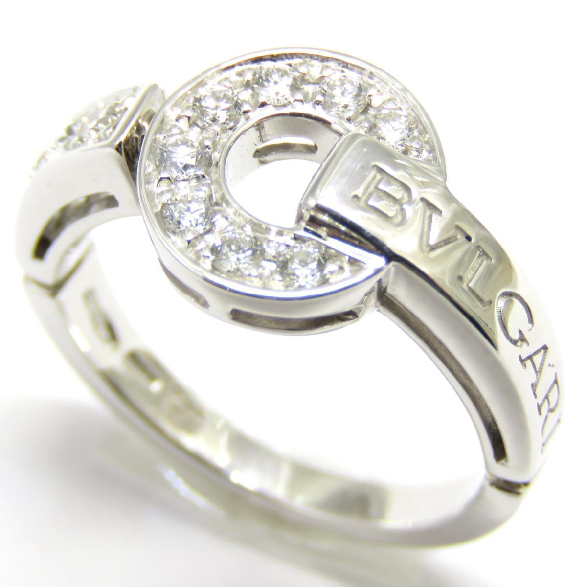 BVLGARI(ブルガリ)/ブルガリブルガリ ダイヤリング リング 指輪/リング//K18WG(750)ホワイトゴールド/【ランクA】/8.5号【中古】